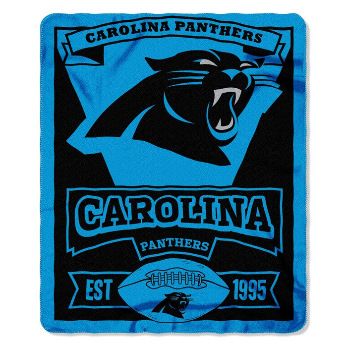 Carolina Panthers NFL Marquee Fleece Throw - Sports Fans Plus