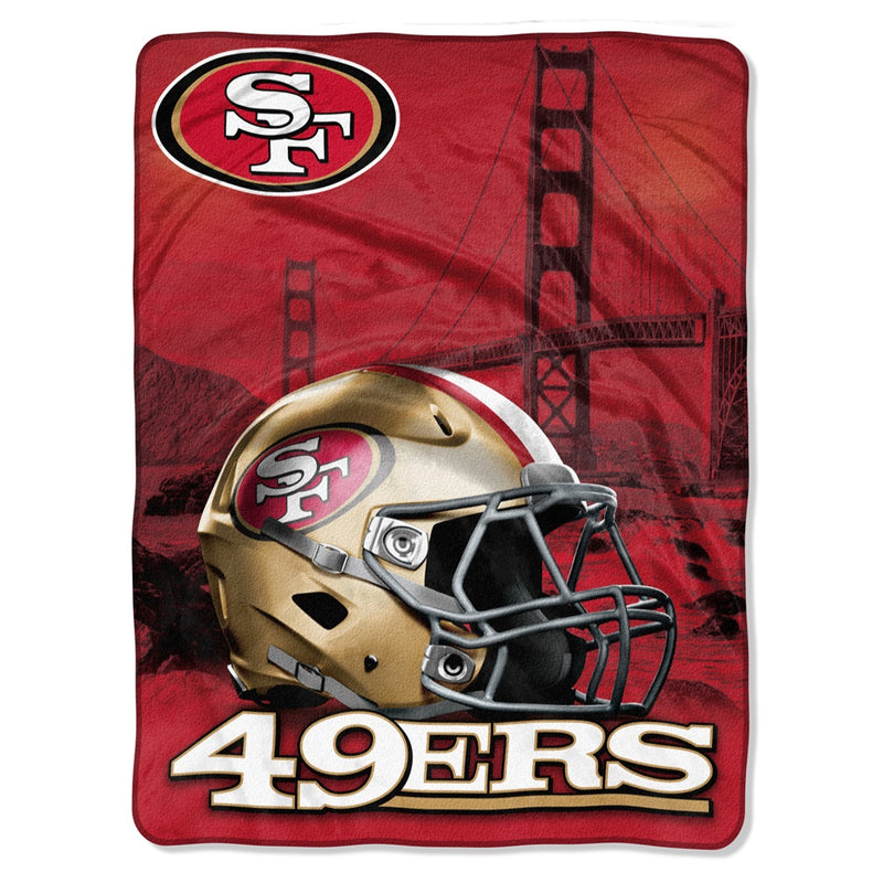 San Francisco 49ers NFL Heritage Silk Touch Throw