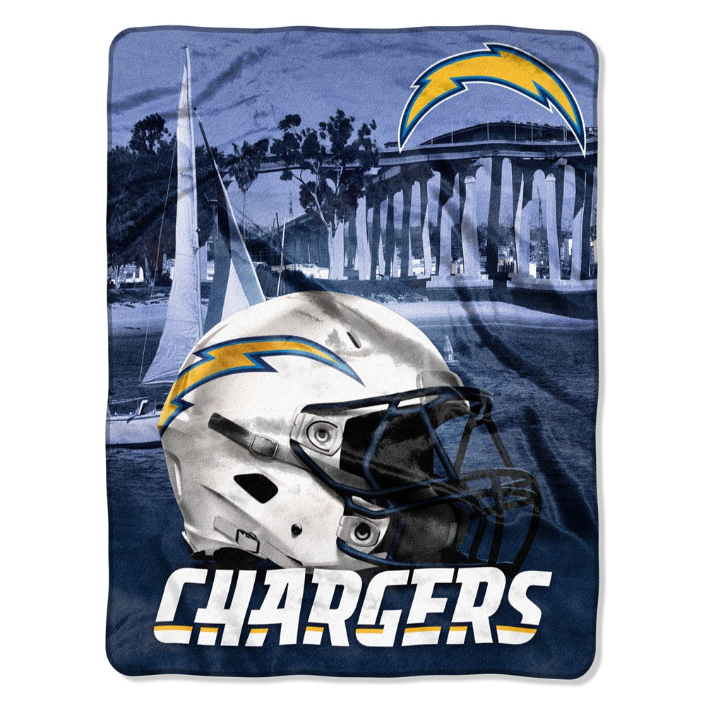 Los Angeles Chargers NFL Heritage Silk Touch Throw