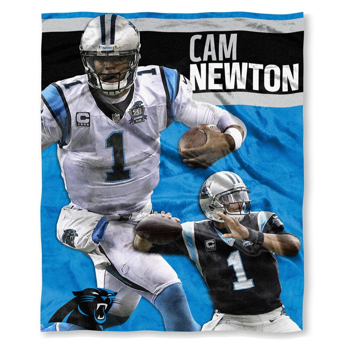 Carolina Panthers Cam Newton NFL Players HD Silk Touch Throw