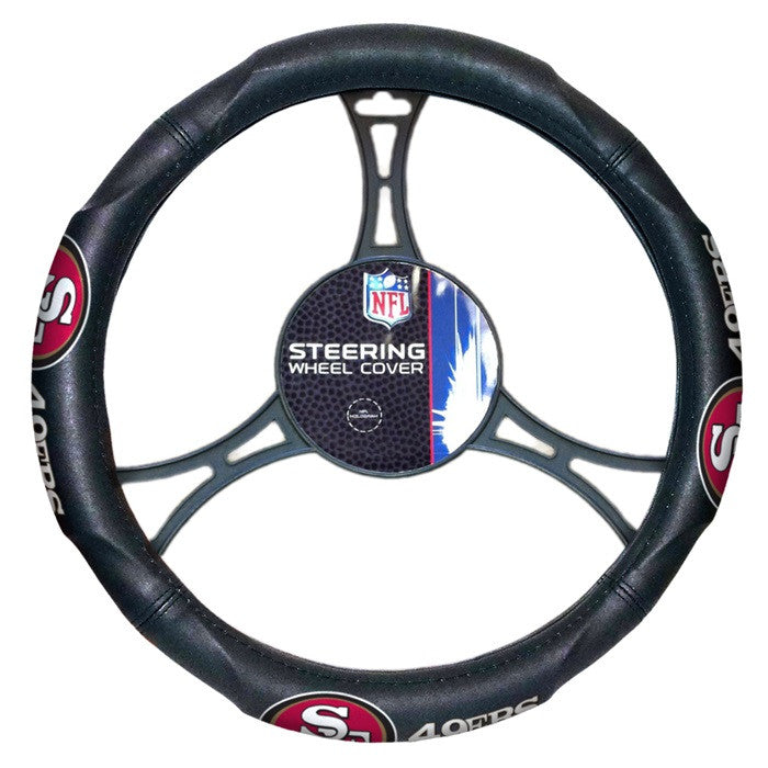 San Francisco 49ers NFL Steering Wheel Cover - Sports Fans Plus