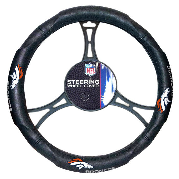 Denver Broncos NFL Steering Wheel Cover - Sports Fans Plus