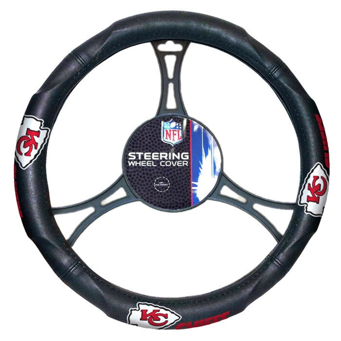 Kansas City Chiefs NFL Steering Wheel Cover - Sports Fans Plus