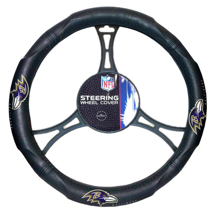 Baltimore Ravens NFL Steering Wheel Cover - Sports Fans Plus