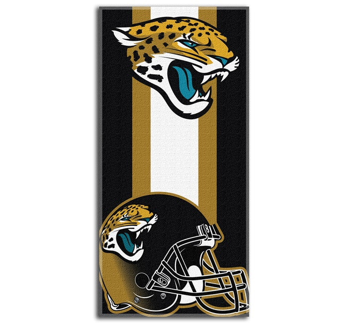Jacksonville Jaguars NFL Zone Read Beach Towel