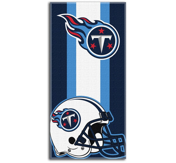 Tennessee Titans NFL Zone Read Beach Towel