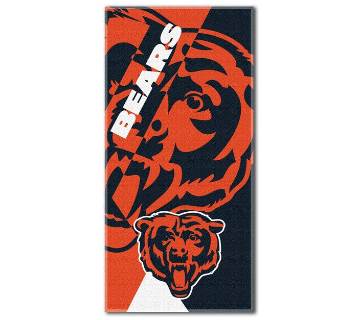 Chicago Bears NFL Puzzle Beach Towel