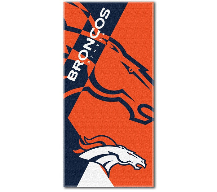Denver Broncos NFL Puzzle Beach Towel
