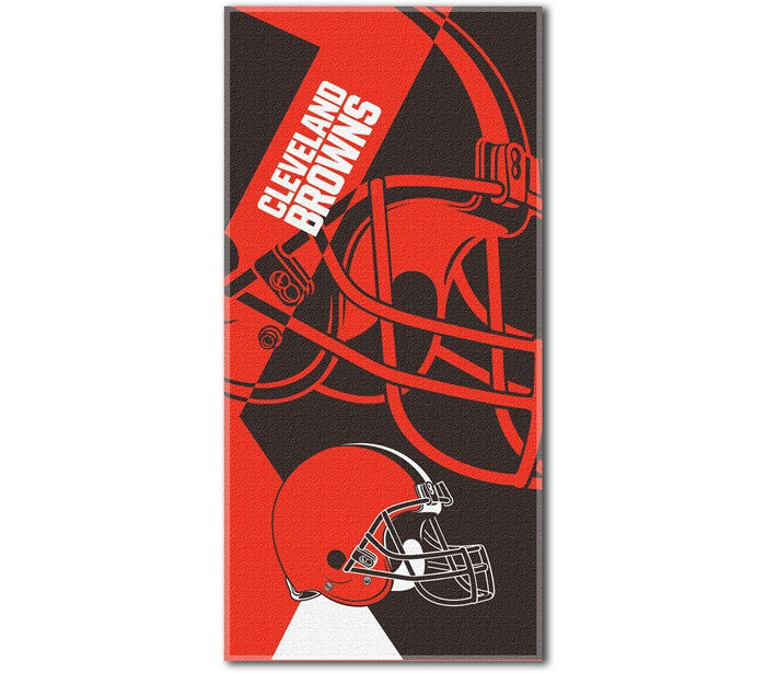 Cleveland Browns NFL Puzzle Beach Towel