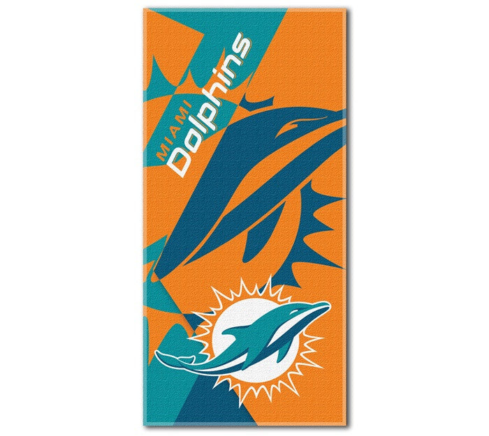 Miami Dolphins NFL Puzzle Beach Towel