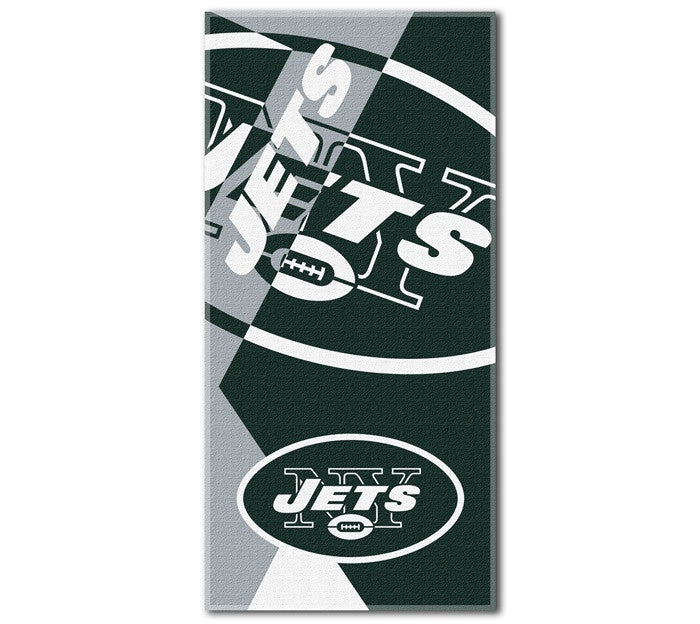 New York Jets NFL Puzzle Beach Towel