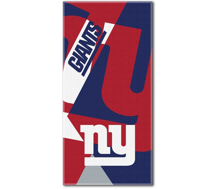 New York Giants NFL Puzzle Beach Towel