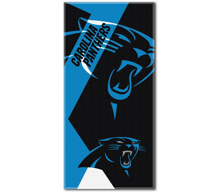 Carolina Panthers NFL Puzzle Beach Towel