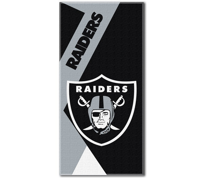 Oakland Raiders NFL Puzzle Beach Towel