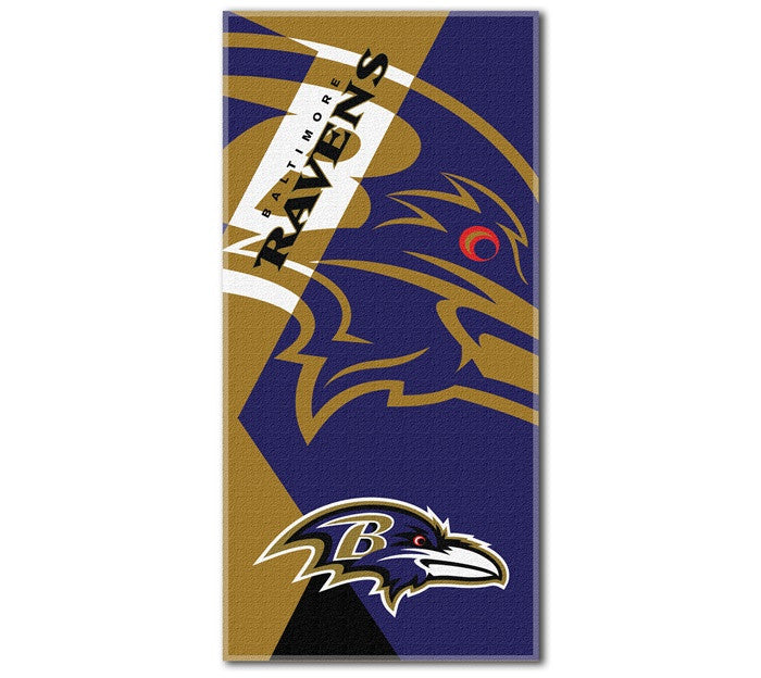 Baltimore Ravens NFL Puzzle Beach Towel