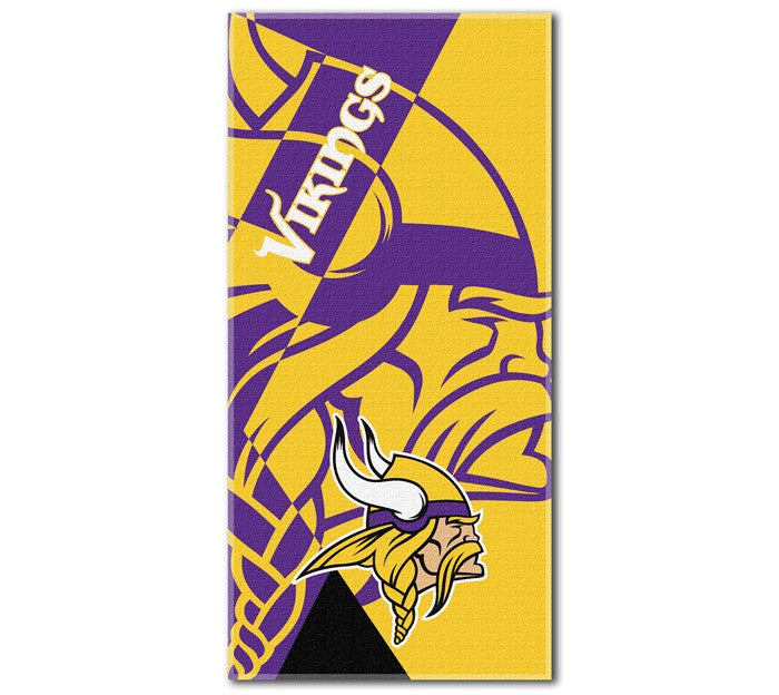 Minnesota Vikings NFL Puzzle Beach Towel