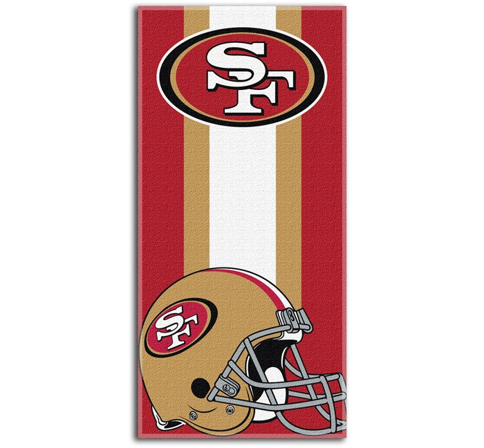 San Francisco 49ers NFL Zone Read Beach Towel