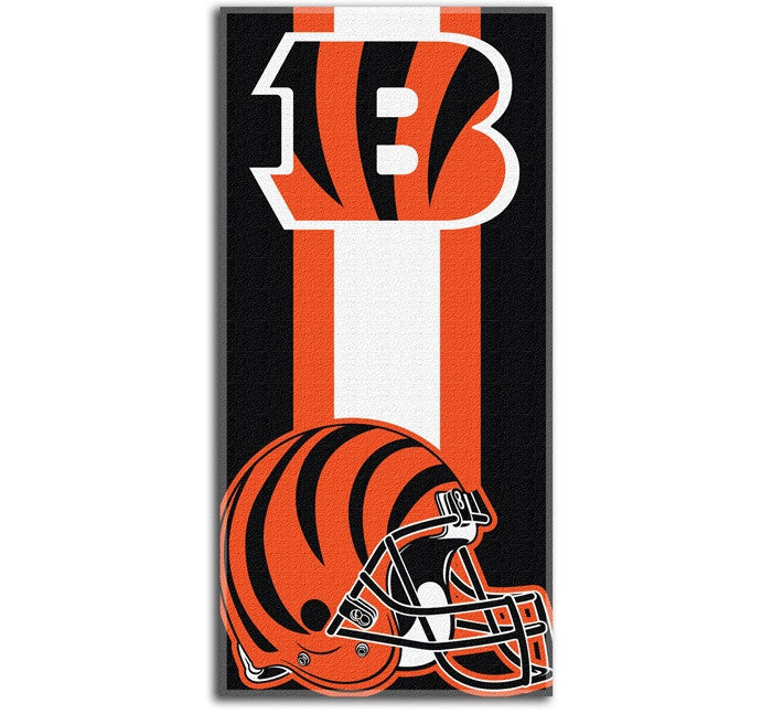 Cincinnati Bengals NFL Zone Read Beach Towel