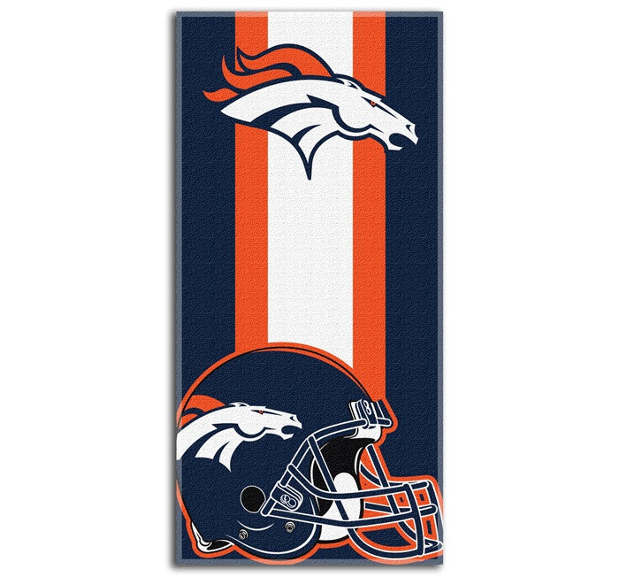 Denver Broncos NFL Zone Read Beach Towel