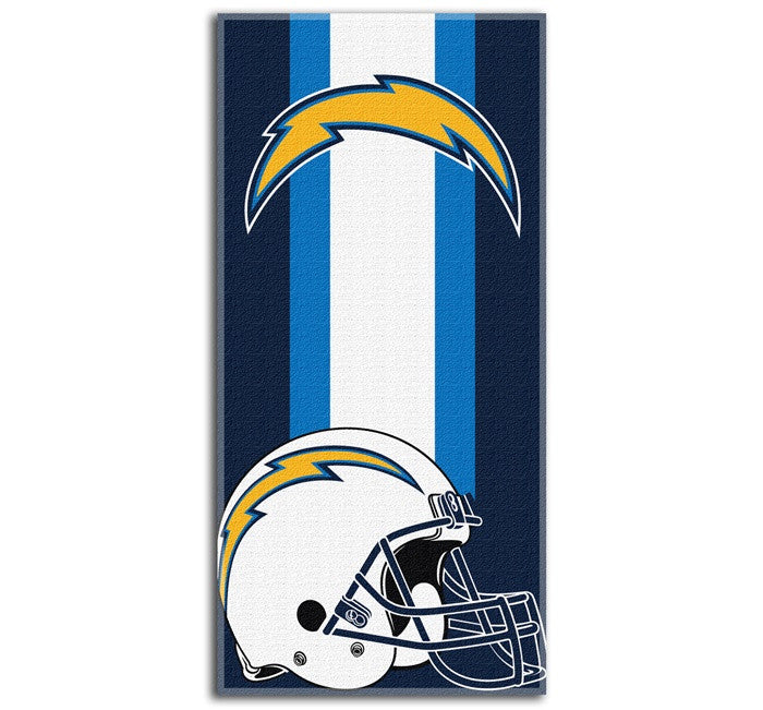 Los Angeles Chargers NFL Zone Read Beach Towel
