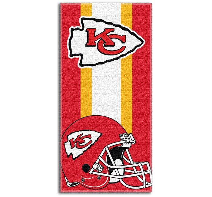 Kansas City Chiefs NFL Zone Read Beach Towel