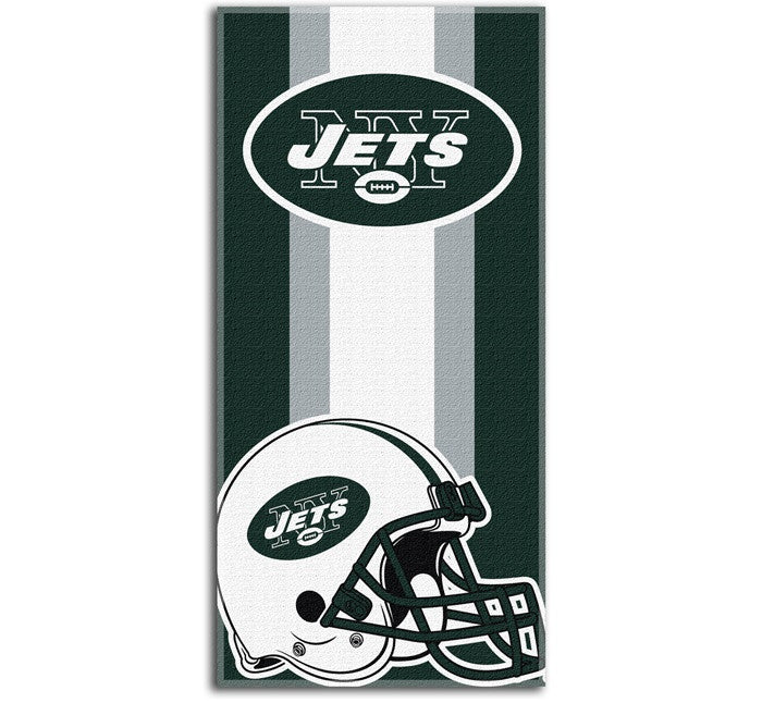 New York Jets NFL Zone Read Beach Towel