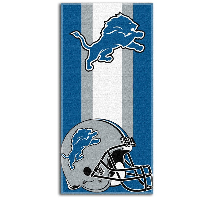 Detroit Lions NFL Zone Read Beach Towel