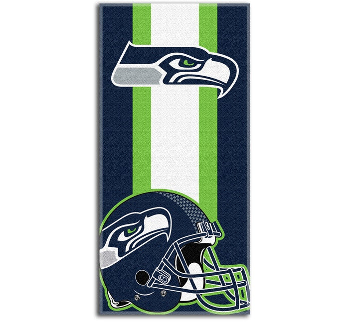 Seattle Seahawks NFL Zone Read Beach Towel