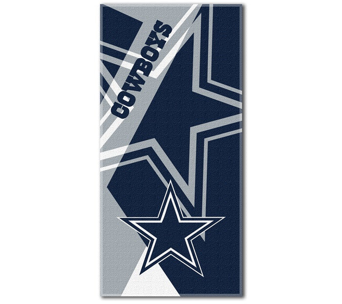 Dallas Cowboys NFL Puzzle Beach Towel