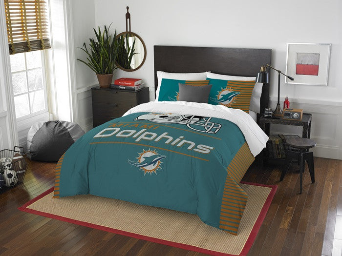 Miami Dolphins NFL Draft Full-Queen Comforter Set
