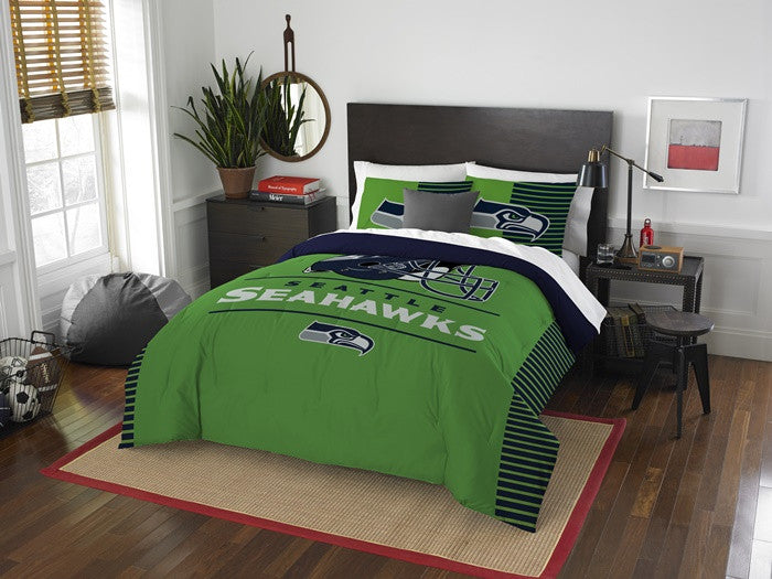 Seattle Seahawks NFL Draft Full-Queen Comforter Set