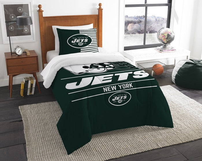 New York Jets NFL Draft Twin Comforter Set
