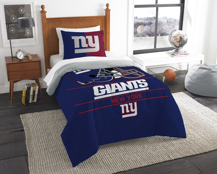 New York Giants NFL Draft Twin Comforter Set