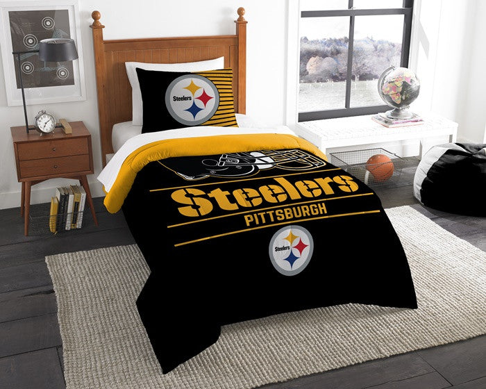 Pittsburgh Steelers NFL Draft Twin Comforter Set