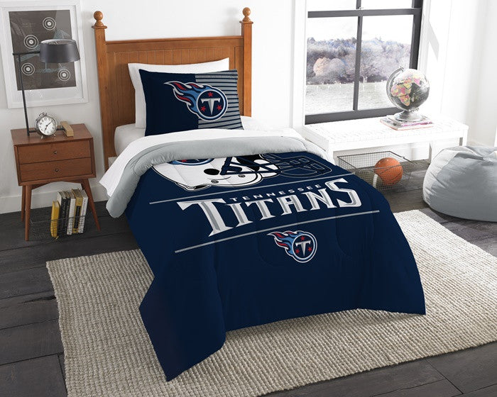 Tennessee Titans NFL Draft Twin Comforter Set