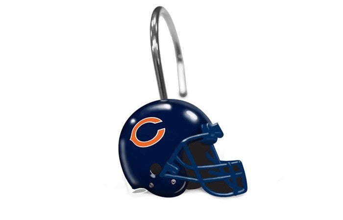 Chicago Bears NFL Shower Curtain Rings - Sports Fans Plus