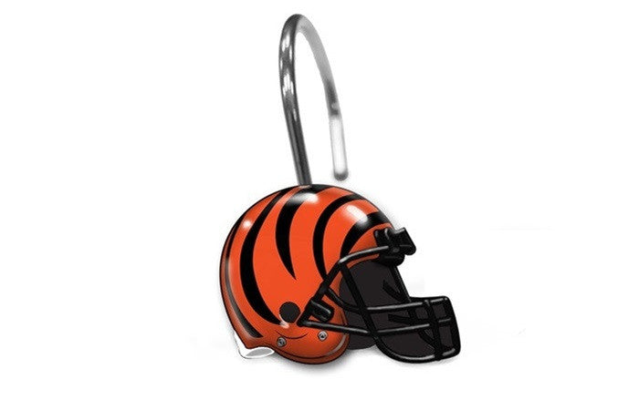 Cincinnati Bengals NFL Shower Curtain Rings - Sports Fans Plus