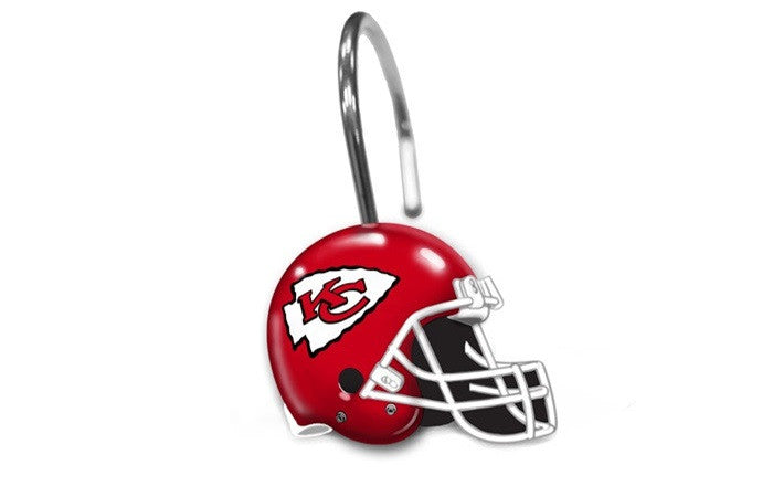 Kansas City Chiefs NFL Shower Curtain Rings - Sports Fans Plus