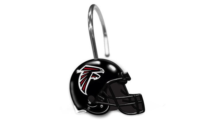Atlanta Falcons NFL Shower Curtain Rings - Sports Fans Plus