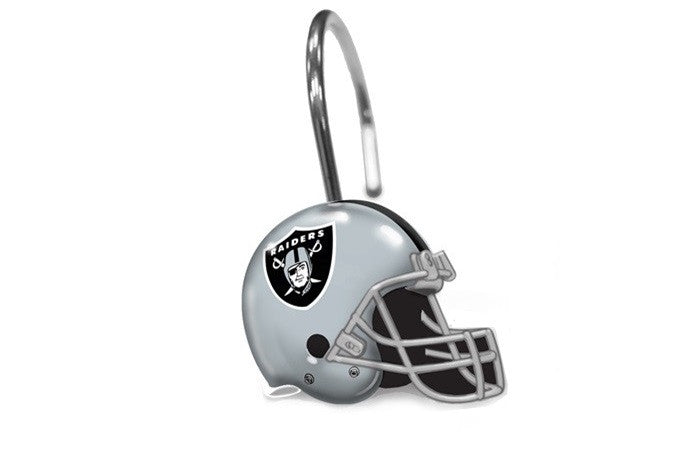 Oakland Raiders NFL Shower Curtain Rings - Sports Fans Plus