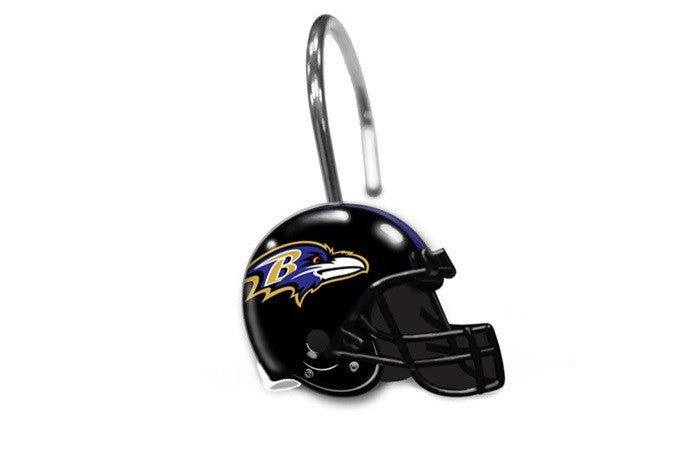Baltimore Ravens NFL Shower Curtain Rings - Sports Fans Plus