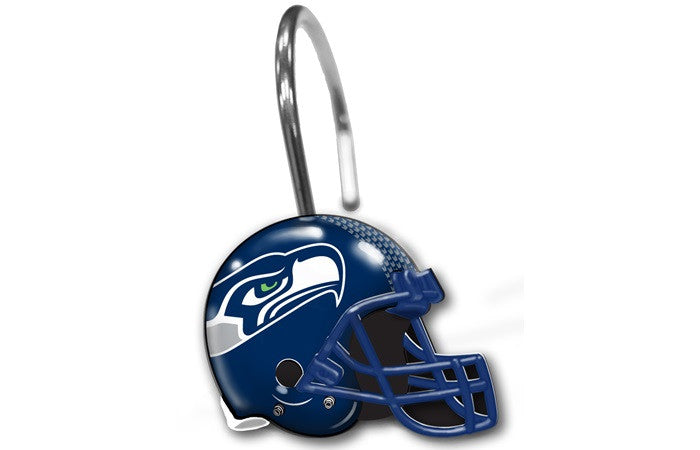 Seattle Seahawks NFL Shower Curtain Rings - Sports Fans Plus