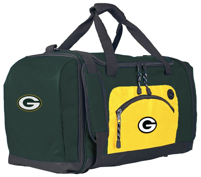 Green Bay Packers NFL Roadblock Duffel Bag with Gold