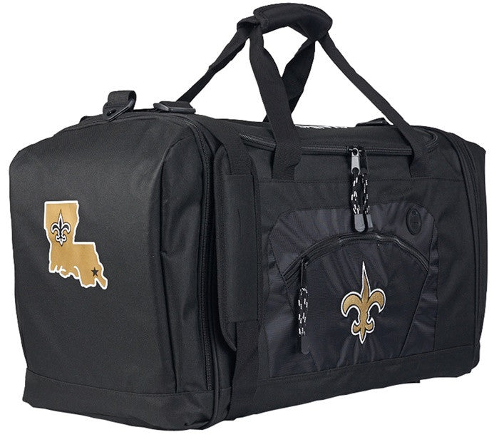 New Orleans Saints NFL Black Roadblock Duffel Bag