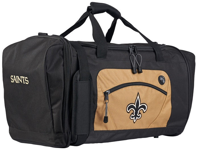 New Orleans Saints NFL Gold Roadblock Duffel Bag
