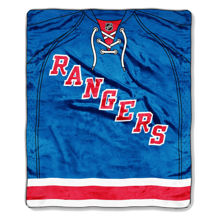 New York Rangers NHL Jersey Raschel Throw - Sports Fans Plus