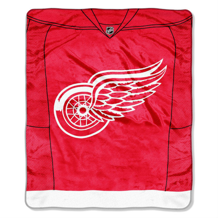Detroit Red Wings NHL Jersey Raschel Throw - Sports Fans Plus