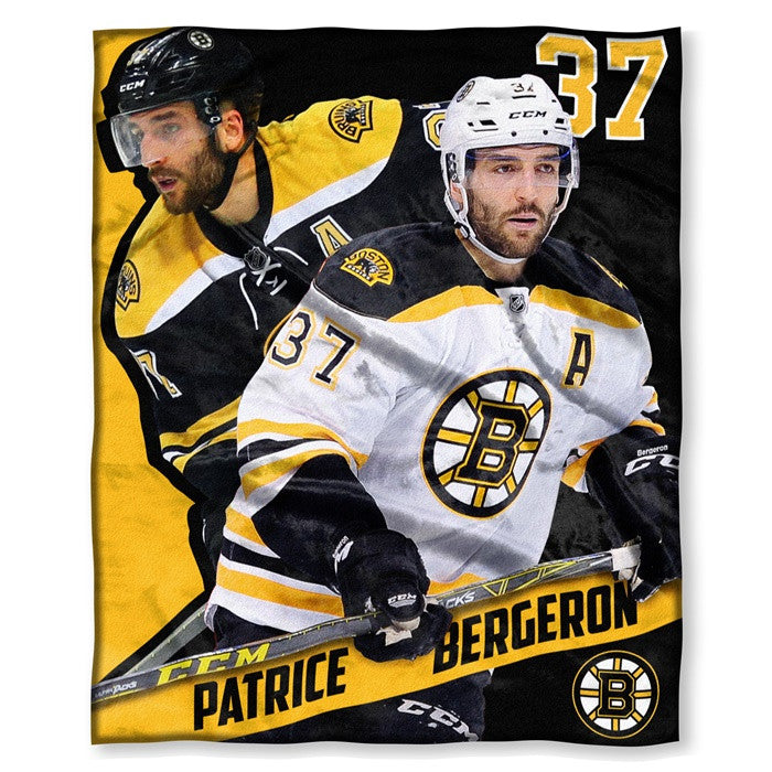 Boston Bruins Patrice Bergeron NHL Players HD Silk Touch Throw