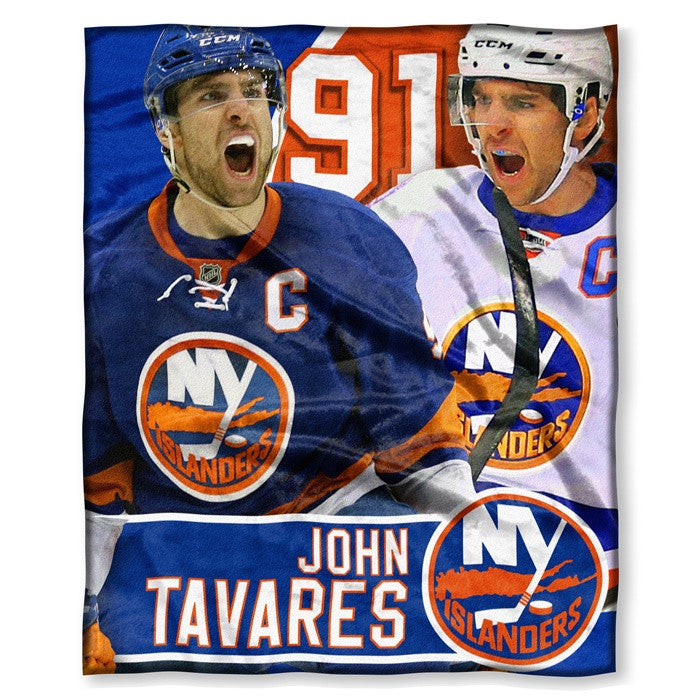 New York Islanders John Tavares NHL Players HD Silk Touch Throw