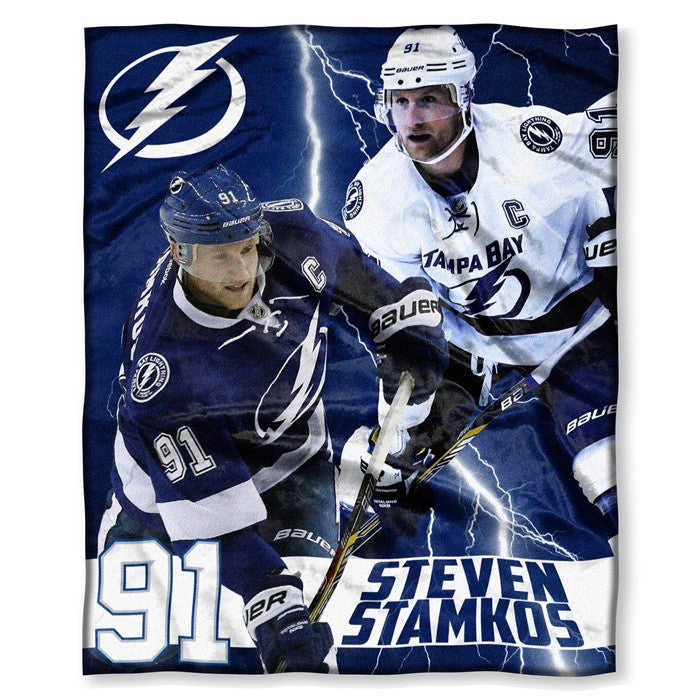 Tampa Bay Lightning Steven Stamkos NHL Players HD Silk Touch Throw